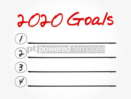 Business: 2020 Goals List business sport and health concept #12045
