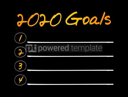 Business: 2020 Goals List business sport and health concept #12046