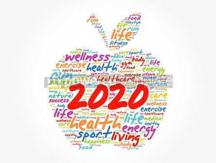 Health: 2020 apple word cloud collage health concept #12047