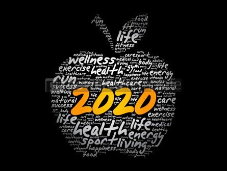 Health: 2020 apple word cloud collage health concept #12050