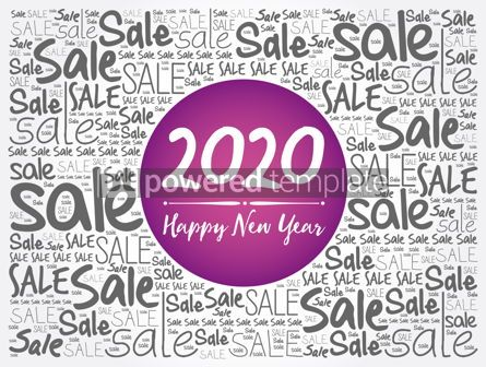 Business: 2020 Happy New Year. Christmas Sale word cloud #12055