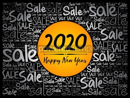 Business: 2020 Happy New Year. Christmas Sale word cloud #12056