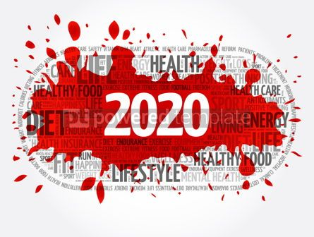 Health: 2020 health and sport goals word cloud #12057