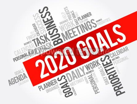 Business: 2020 Goals word cloud collage business concept #12058