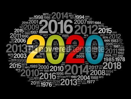 Business: 2020 Happy New Year and previous years word cloud #12062