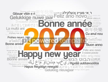 Business: 2020 Happy New Year in different languages #12065