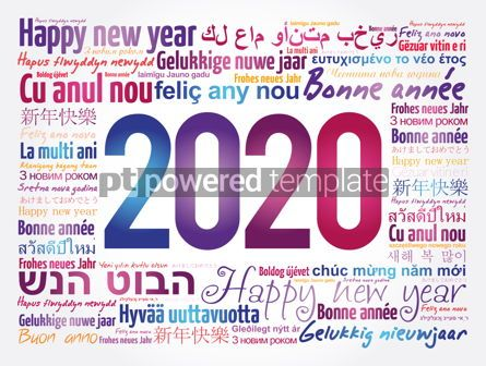 Business: 2020 Happy New Year in different languages #12067