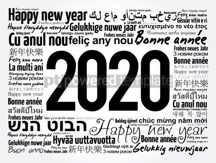 Business: 2020 Happy New Year in different languages #12069