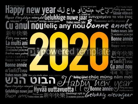 Business: 2020 Happy New Year in different languages #12070