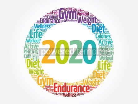 Health: 2020 health and sport goals word cloud #12071