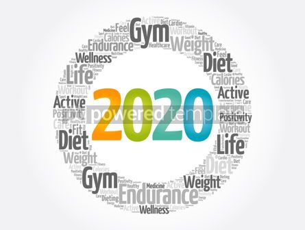 Health: 2020 health and sport goals word cloud #12072