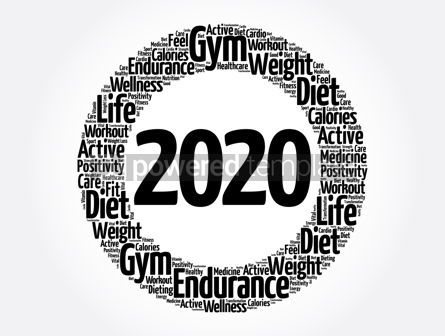 Health: 2020 health and sport goals word cloud #12073