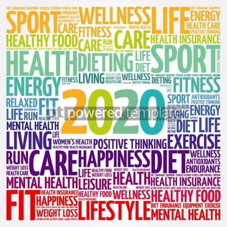 Health: 2020 health and sport goals word cloud #12075