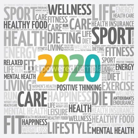 Health: 2020 health and sport goals word cloud #12076