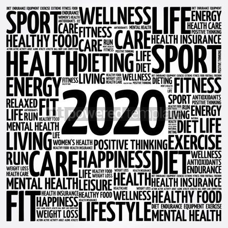 Health: 2020 health and sport goals word cloud #12077