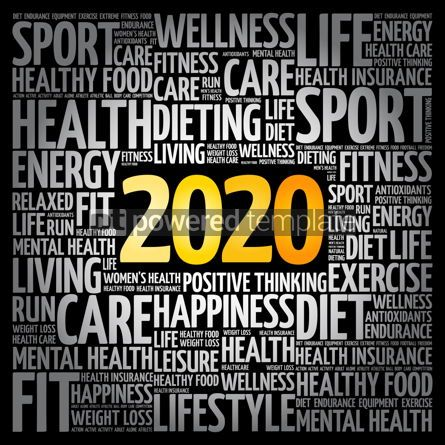 Health: 2020 health and sport goals word cloud #12078