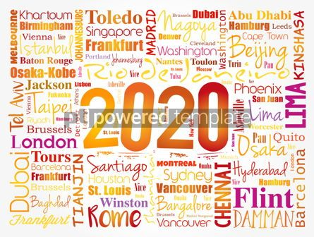 Business: 2020 travel cities word cloud collage #12083
