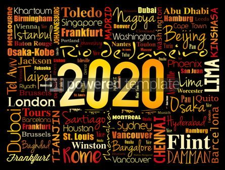 Business: 2020 travel cities word cloud collage #12084