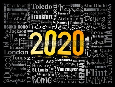Business: 2020 travel cities word cloud collage #12085