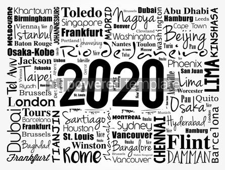 Business: 2020 travel cities word cloud collage #12087