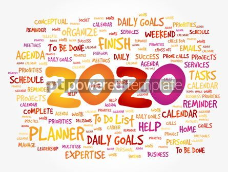 Business: 2020 New Year Goals word cloud #12088