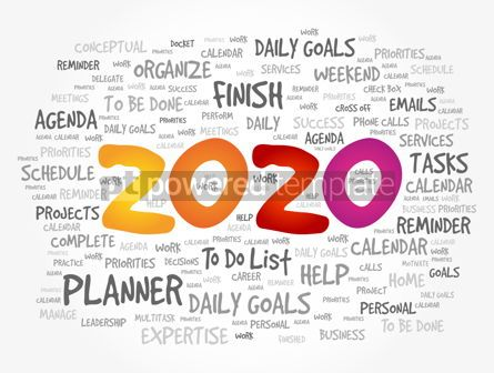 Business: 2020 New Year Goals word cloud #12089