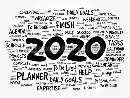 Business: 2020 New Year Goals word cloud #12090