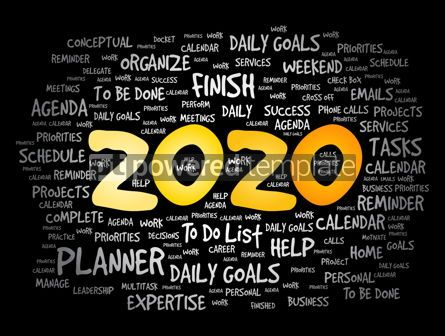 Business: 2020 New Year Goals word cloud #12091