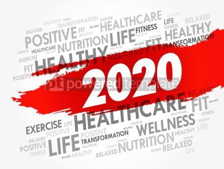 Health: 2020 health and sport goals word cloud #12094