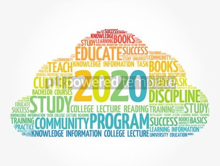 Education: 2020 Education word cloud business concept #12095