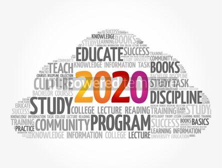Education: 2020 Education word cloud business concept #12096