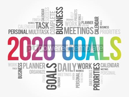 Business: 2020 Goals word cloud collage business concept #12098