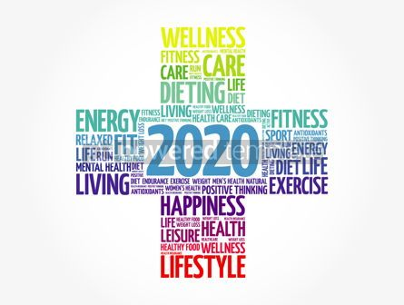 Health: 2020 health and sport goals word cloud #12102