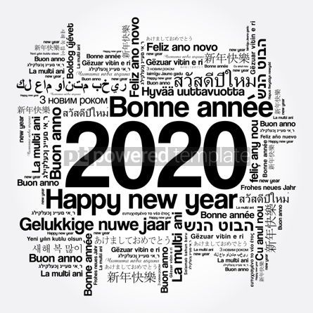 Education: 2020 Happy New Year in different languages #12104