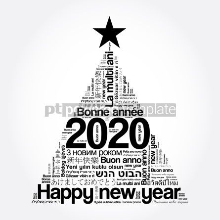 Education: 2020 Happy New Year in different languages #12107