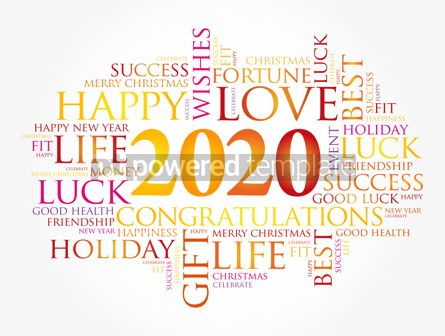 Education: 2020 year greeting word cloud collage #12110