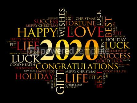 Education: 2020 year greeting word cloud collage #12111