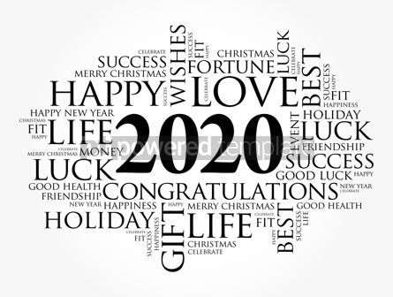Education: 2020 year greeting word cloud collage #12112