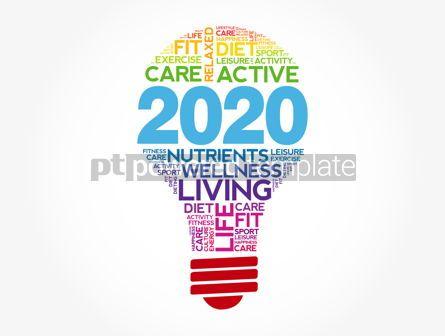 Health: 2020 health goals bulb word cloud #12120