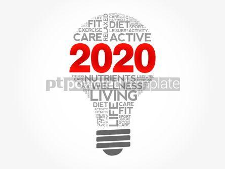Health: 2020 health goals bulb word cloud #12122