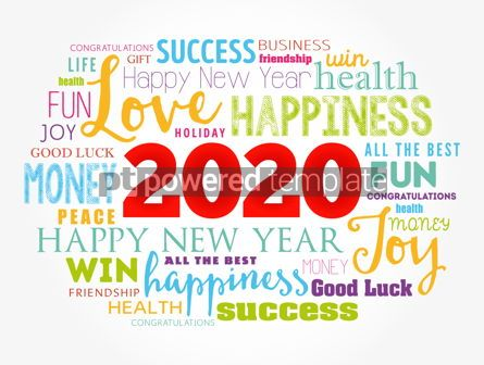 Holidays: 2020 year greeting word cloud collage #12123