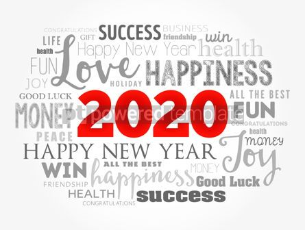 Holidays: 2020 year greeting word cloud collage #12124