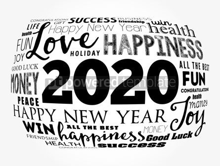 Holidays: 2020 year greeting word cloud collage #12125