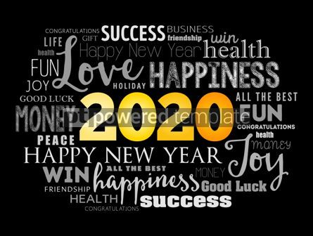 Holidays: 2020 year greeting word cloud collage #12126