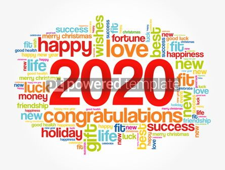 Business: 2020 year greeting word cloud collage #12144