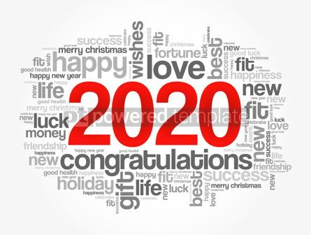 Business: 2020 year greeting word cloud collage #12145