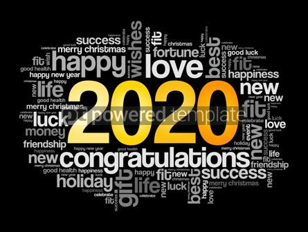 Business: 2020 year greeting word cloud collage #12146