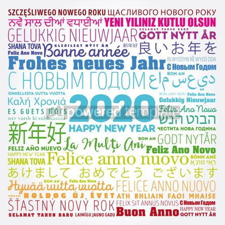 Business: 2020 Happy New Year in different languages #12148