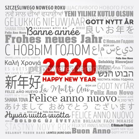 Business: 2020 Happy New Year in different languages #12150