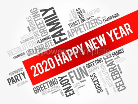 Business: 2020 year greeting word cloud collage #12152